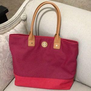 Tory Burch dark pink purse